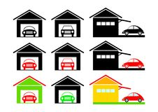 Garage icons Royalty Free Stock Images