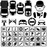 Garage icons 2 Stock Photography