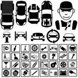 Garage icons 2 Stock Photography