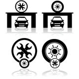 Garage icons Royalty Free Stock Image