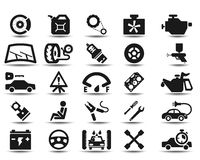 Garage icons Stock Photography