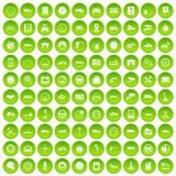 100 garage icons set green. 100 garage icons set in green circle isolated on white vectr illustration Stock Photos