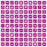 100 garage icons set grunge pink. 100 garage icons set in grunge style pink color isolated on white background vector illustration royalty free illustration