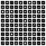 100 garage icons set, grunge style Stock Images