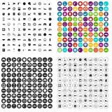 100 garage icons set vector variant. 100 garage icons set vector in 4 variant for any web design isolated on white Royalty Free Stock Image