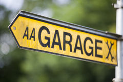 Garage indicator sign Stock Photography