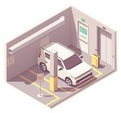 Garage isométrique de voiture de vecteur illustration de vecteur