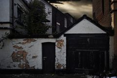 Garage in Liverpool royalty-vrije stock foto's
