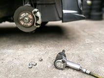 Garage mechanic tools Royalty Free Stock Photos