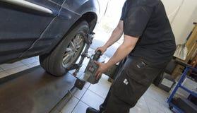 Garage Mechanics Royalty Free Stock Image