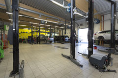Garage Mechanics Royalty Free Stock Images