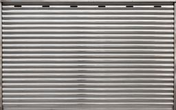 Garage metal roll gate, background photo. Texture, front view royalty free stock photography
