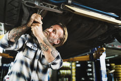 Garage Motor Maintenance Mechanic Fixing Spare Concept Royalty Free Stock Photo