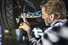 Garage Motor Maintenance Mechanic Fixing Spare Concept Stock Image