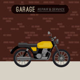Garage with motorcycle. Stock Images