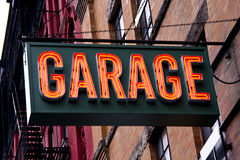 Garage Neon Sign Stock Photo