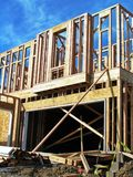 Garage - New Construction. Garage of a home under construction Royalty Free Stock Images