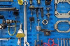 Garage och och bildelar Arkivbild