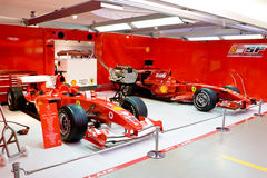 Garage Of Formula 1 Team Ferrari Royalty Free Stock Photos