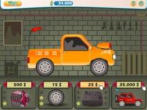 Garage panel for game. Vector illustration of Garage panel service for a game design royalty free illustration