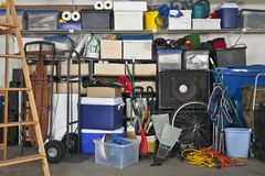 Garage pieno Fotografie Stock