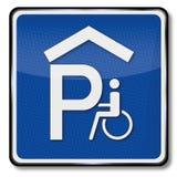 Garage pour des utilisateurs de fauteuil roulant illustration stock