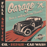 Garage retro poster Royalty Free Stock Photography