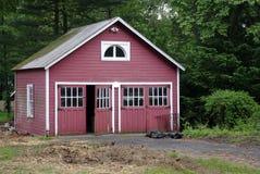 Garage rosso Fotografia Stock