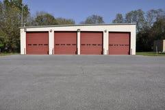 Garage rural del parque de bomberos fotos de archivo libres de regalías
