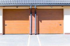 Wooden garage`s gates Stock Image