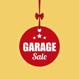 Garage Sale. Abstract garage sale object on a yellow background Royalty Free Stock Photo