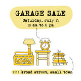 Garage sale banner Royalty Free Stock Photos