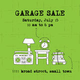 Garage sale banner Stock Images