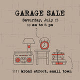 Garage sale banner Stock Photo