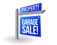 Garage sale blue sign illustration design Stock Photos