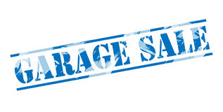 Garage sale blue stamp. Isolated on white background Royalty Free Stock Photo