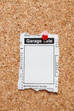 Garage Sale. Fake Classified Ad, newspaper, Garage Sale concept Royalty Free Stock Photos