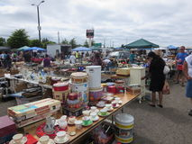 Garage sale is fun. Sun is always a fun in Vancouver, Washington. Garage/Yard Sale is a common practise in summer royalty free stock images