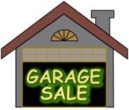 Garage Sale glow opt stock illustration