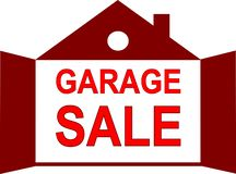 Garage Sale icon as a house stock illustration