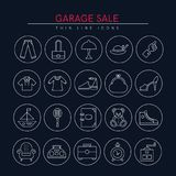 Garage sale icons 3 Stock Photography