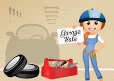 Garage for sale. Illustration of garage on sale Royalty Free Stock Photos