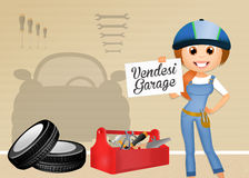 Garage for sale. Illustration of garage for sale Stock Image