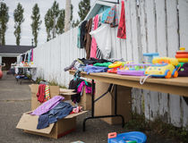 Garage Sale with lot of Items Royalty Free Stock Image