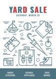 Garage_sale_poster 3 Fotografía de archivo libre de regalías
