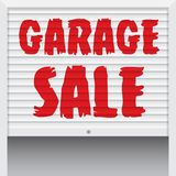 Garage Sale poster, banner template. Royalty Free Stock Photo