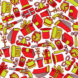 Garage sale seamless pattern / Colorful Object background Royalty Free Stock Photos
