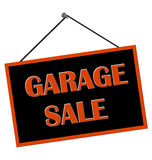 Garage Sale Sign. Hanging from nail isolated over white Royalty Free Stock Images