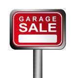 Garage sale sign Royalty Free Stock Photography