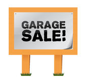 Garage sale sign Stock Photography